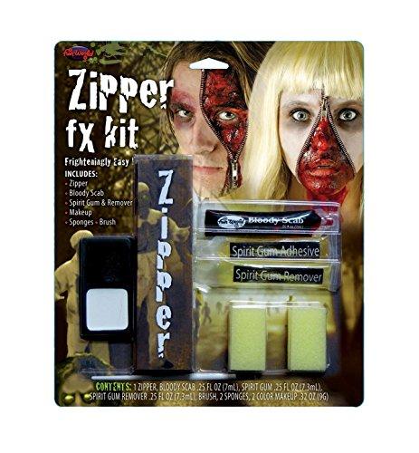 Deluxe Horror Halloween, Blutige Scab FX Zipper Make-Up Zubehör