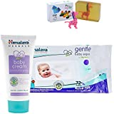 Himalaya Herbals Baby Cream (100g)+Himalaya Herbals Gentle Baby Wipes (72 Sheets) With Happy Baby Luxurious Kids Soap With Toy (100gm)
