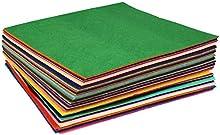 Soledi Poliéster DIY Fieltro Hoja de Tela No Tejida de Trabajo Artesanal Telas para Manualidades 60 colores (30 × 30cm)