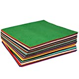 Soledi Non-woven Fabric Sheet 60pcs Crafts DIY Polyester Felt Sheet for Craft 30 * 30 cm (30cm 60pcs) - SOLEDI - amazon.co.uk