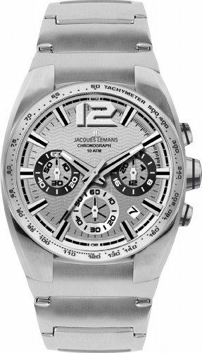 Jacques Lemans Herren-Armbanduhr XL Sport Chronograph Quarz Edelstahl 1-1721B