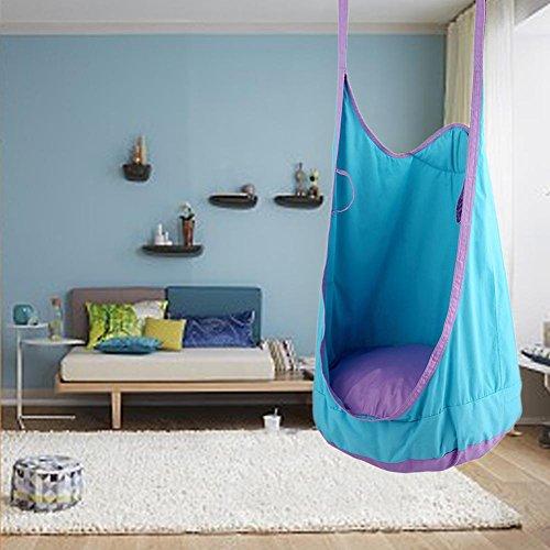 flower205Erwachsene Kinder Tasche Swing Indoor Sessel Nook Swing Outdoor Sports Spielzeug Vergnügungspark Sessellift 80kg Load Bearing