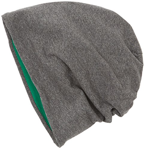 MSTRDS Unisex Strickmützen Jersey Beanie Reversible, Mehrfarbig (Ht.Charcoal/Kelly 10377,3900), One Size (one size) (Stirnband Reversible)