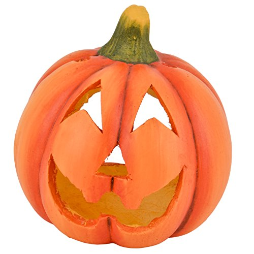 Dadeldo Living & Lifestyle Kürbis Deko Objekt Herbst Halloween Clayfibre 21x20x20cm Orange
