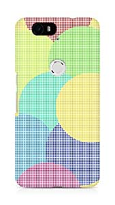 Amez designer printed 3d premium high quality back case cover for Huawei Nexus 6P (Circles dimensions squares background bright)