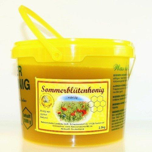 Sommerblütenhonig 2,5 kg Eimer Blütenhonig Honig Herkunft Deutschland