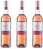 Sander's Selection No.1 Pinot Noir Rosé, feinherb-fruchtiger Spätburgunder Halbtrocken (3 x 0.75 l)
