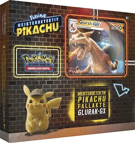 Lively Moments Pokemon Karten Meisterdetektiv Pikachu Fallakte Glurak - GX Display DE Deutsch Promo Sammelkarten Spielkarten