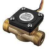 EsportsMJJ G1/2 Inch Kupfer Wasser-Strömungs Sensor Flüssigkeitstemperatur Gesteuerter Schalter Durchflussmesser