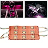 #8: Vheelocityin 9 LED Custom Cuttable Bike/ Car Pink Light for Interior/ Exterior