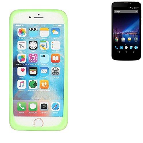 K-S-Trade Für Phicomm Clue 2S Silikonbumper/Bumper aus TPU, Grün Schutzrahmen Schutzring Smartphone Case Hülle Schutzhülle für Phicomm Clue 2S