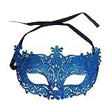Dosige Venezianische Maske, Maskenball Masken Maskerade Maske Masquerade Maske Venedig Maske Damen 1 Stück (Blau)