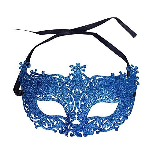 Maske, Maskenball Masken Maskerade Maske Masquerade Maske Venedig Maske Damen 1 Stück (Blau) (Maskerade Masken Blau)