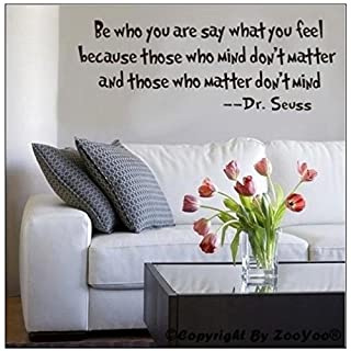 ACEFAST INC Be Who You Are Dr.seuss Quote Wall Sticker Vinyl Decal Home Decor Art Lettering