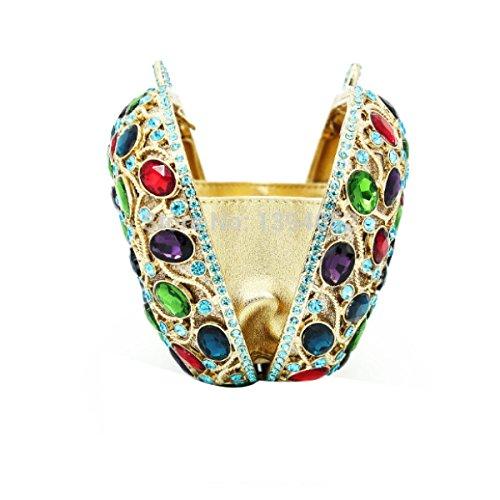 Lady Sacchetto Di Sera Cristalli Diamanti Vestito Sacchetto Di Frizione Borsa B