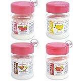 Kit 4 azúcares aromatizados - fresa, frambuesa, limón, coco