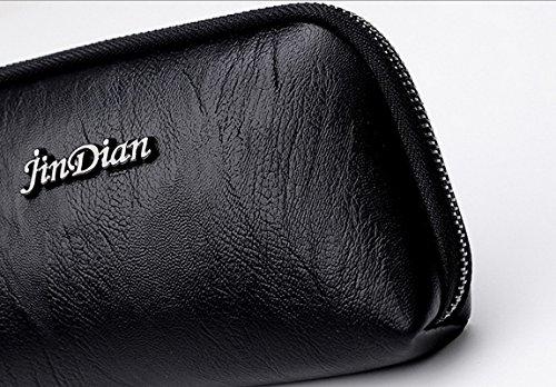 Kauftree Damen Frauen Clutches Geldbörse Portemonnaie Groß Handgelenkstasche Citytasche Lila
