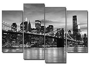 DekoArte - Tableau moderne sur toile New York // New York  Nueva York 120x100cm