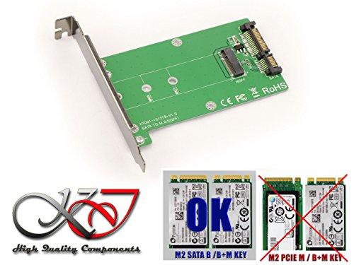Foto de Kalea-Informatique - Convertidor adaptador M2 (NGFF) a SATA III para SSD de tipo M.2 (Intel/Sandisk/Micron/Toshiba/Samsungetc.)