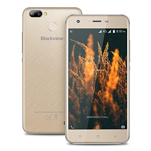 Blackview A7 Pro 4G Smartphone Pantalla de 5.0 Pulgadas HD Android 7.0 ROM de 2 GB RAM de 16 GB MTK6737 Quad Core 1.3GHz 8.0MP + 0.3MP Dual Rear 5.0MP Cámara Frontal 2500mAh