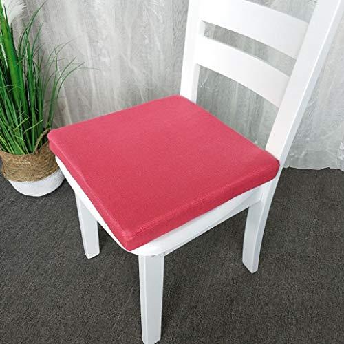 MOSU Schaum Sitzkissen, Atmungsaktiv Stuhlkissen, Abnehmbar Anti-Rutsch Cover, Geeignet für Esszimmerstuhl Auto -Wassermelone rot-Platz40x40x5Cm -