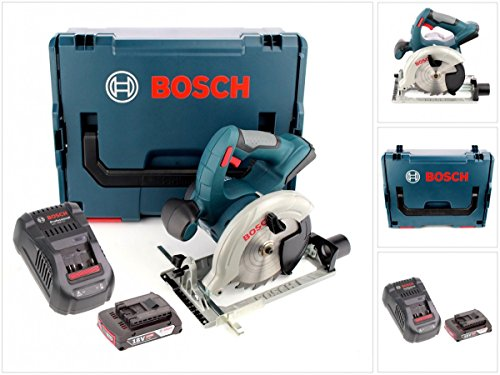 Preisvergleich Produktbild Bosch GKS 18 V-LI Professional 18 V Akku Kreissäge mit L-Boxx, GAL 1880 Schnellladegerät und 1x GBA 2 Ah Akku