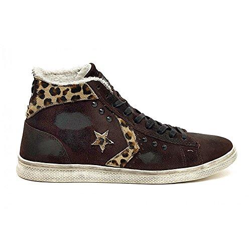 er Ltd - 1C644 - Farbe: Weiß-Schwarz - Größe: 39.0 (Kinder Converse Leopard)