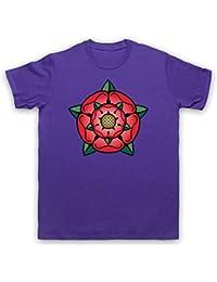 Tudor Rose British Regal Heraldic Symbol Herren T-Shirt