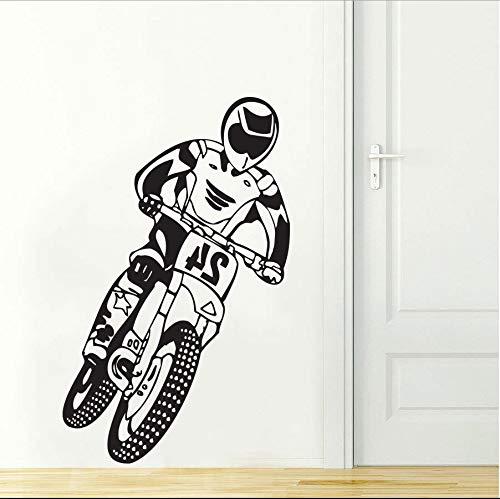 ONETOTOP Cool Boy Wohnkultur Motocross Motorrad Dirt Bike Schlafzimmer Wandtattoo Art Decor Aufkleber Vinyl Wandbild Tapete 56x90cm (Cool Dirt Bike Kunststoff)