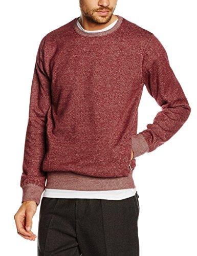 HOPE'N LIFE Herren Sweatshirt Myazadou Rot - Rot (Bordeaux)