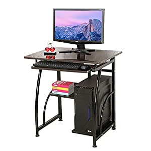 Soges Luxurious Computer Desks With Pullout Keyboard Tray Sturdy Wood Computer Desk Home Office