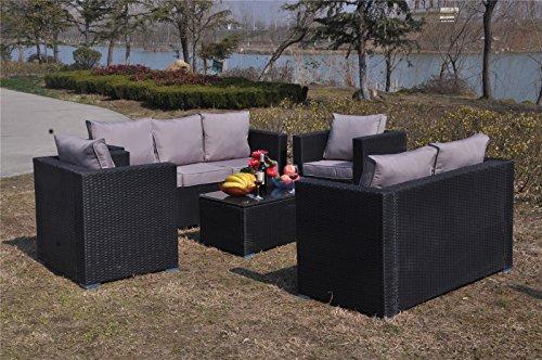 yakoe 8 seater rattan garden furniture patio conservatory sofa set