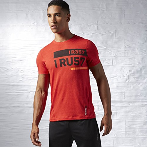 Reebok Herren T-shirt ONE Series I Rest I Rust Triblend, Rot, XL, AE5081 (Shirt Rot Reebok)