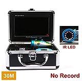 MICHEN Kit de cámara de Pesca en el Hielo Submarino Original Video Fish Finder 1000TVL con Registro IR LED lámpara infrarroja para Pesca en el mar,IR30mNORecord