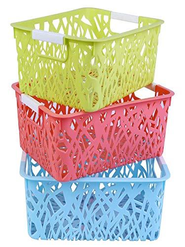 AB SALES Storage Freezer Bins,Refrigerator Organizer Trays, Plastic Containers for Home Kitchen Organization Vegetable Fruit Food Storage Basket Rack Organizer