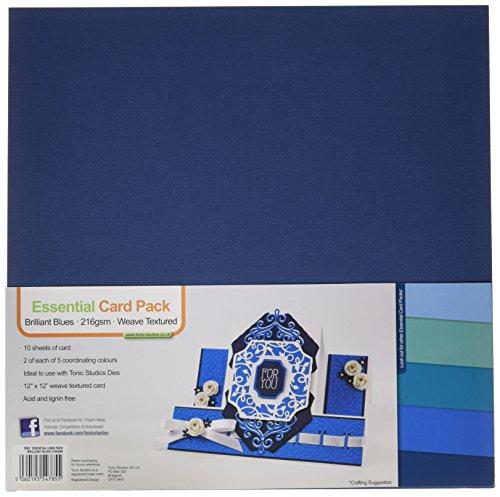 Tonic Studios Tonic Studios Essentials Karton 12Zoll x 12Zoll 10/pkg-brilliant Blues, andere, mehrfarbig