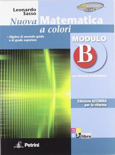Nuova Matematica, Azzurra, Modulo B