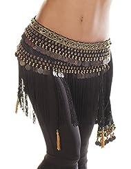 The Turkish Emporium - Cinturón - para mujer Negro negro talla única