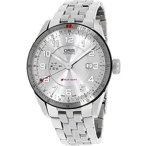 Oris Men's Audi Sport 44mm Steel Bracelet Automatic Watch 01 747 7701 4461-MB