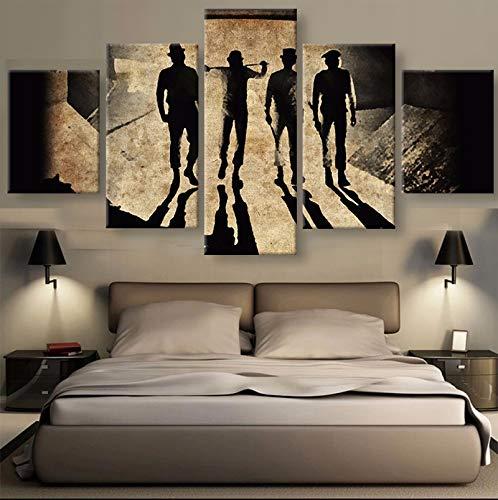 mmwin 5 Panel HD Wandkunst Bild Home Decoration Wohnzimmer Leinwanddruck Wandbild Druck Auf Leinwand
