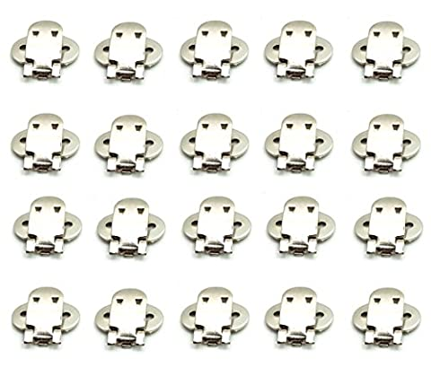 QTMY 10 Pairs Stainless Steel Blank Shoe Clips DIY Crafts Findings Accessories
