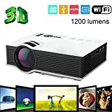 UNIC UC46 Newest 1200Lumens 2.4G WIFI Mini Projector UC40 Upgrade HDMI AV USB