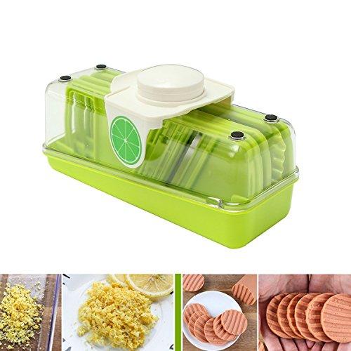 Schnitt Leicht Slicer (Gemüseschneider Baban 7in 1Mandoline Multifunktions Professionelle Gemüseschäler/Aktenvernichter, Allesschneider von Obst und Käse, 3auswechselbare Klingen + Behälter von Nahrung + Eiscruscher, Welle)