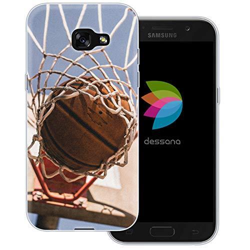 dessana Basketball Transparente Schutzhülle Handy Case Cover Tasche für Samsung Galaxy A5 (2017) Korbwurf Tor