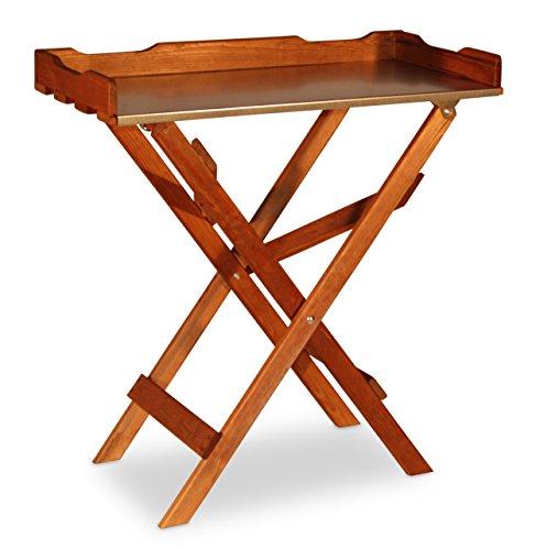 Table basse Table de jardinage en bois, Plateau Zinc, marron B78 x T39 x H82 cm