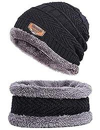 Zacharias Men's Woolen Cap with Neck Muffler/Neckwarmer Set of 2 Free Size