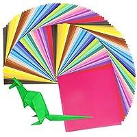 Biging 200 Sheets 50 Vivid Colors Origami Paper