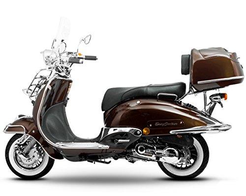 Retro Roller Easy Cruiser Chrom 50 ccm mokkabraun Motorroller Scooter Moped Mofa Easycruiser braun