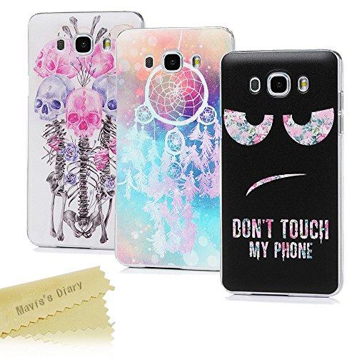 Samsung Galaxy J7 2016 Hülle Case Mavis's Diary 3x Tasche Schutzhülle Hartcase Plastik Fall Euit Back Cover Bumper Handytasche Scratch Telefon-Kasten Handyhülle Handycover