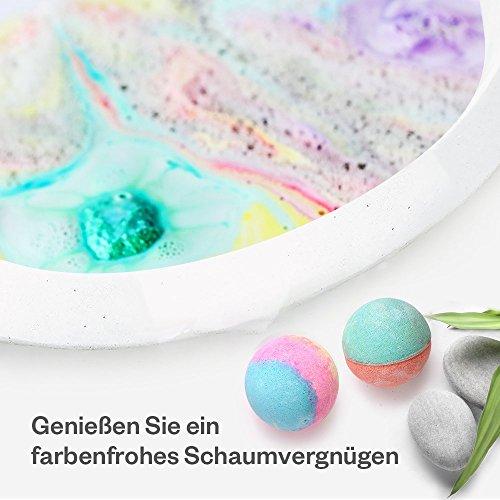 Anjou Badebomben, Bunte Badekugeln, Geschenkset für Sprudel Schaumbäder, Feuchtigkeitsspendende Hautpflege, Aromatherapie Spa, 12pcs x 100 g, 12 Stück